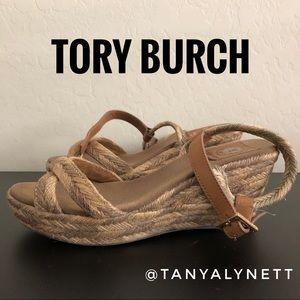 Tory burch Tan espadrille wedge